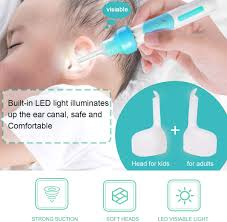 Light Up Ear Cleaner Ear Wax Removal Earwax Vacuum Remover Electric Ear Cleaner Tool Smart Automatic Ear Removal Kit With Led Light And Soft Prevent Ear Pick Clean Tools