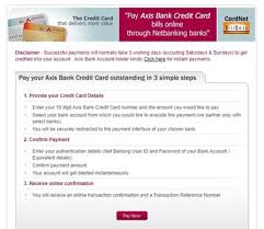 Axis bank credit cards cater to the varied needs of individuals including travel, shopping, rewards, cashback etc. Axis Bank Credit Card Payment How To Pay Credit Card Bills Online Finserv Markets