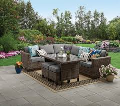 Better Homes & Gardens Brookbury <b>5</b>-<b>Piece Patio</b> Wicker Sectional ...