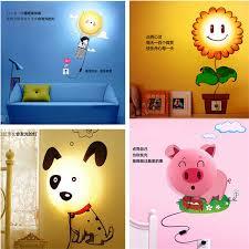 diy wallpaper wall lamp cartoon mood lamp night light baby children night light free shipping qd cheap mood lighting