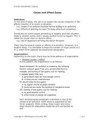 Essay Environmental Pollution Cause And Effect Essay With