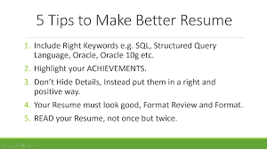 Tips For Resume Writing Resume Templates