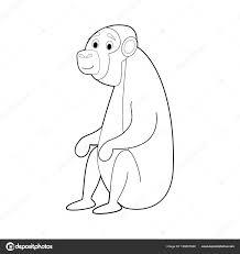 Fotografie Scimpanze Disegno Bambini Facile Colorare Disegni
