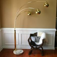 lighting lamps vintage brass arc floor lamp mid century orb lamp for mid