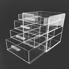 china 2018 simple designed acrylic clear cube makeup organizer with drawer china cube makeup organizer clear makeup organizer