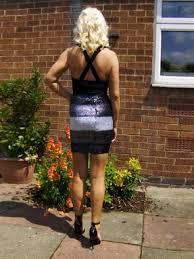Mature women in hose high heels