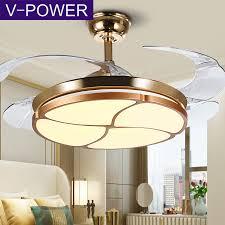 v power invisible fan chandelier living room dining room ceiling fan light bedroom home simple modern with light fan lamp fan light texture phnom penh 42