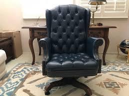 tufted leather executive office chair. Tufted Leather Executive Office Chair By North Hickory Furniture Company [Photo 1] E