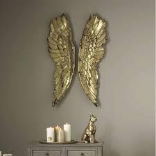 angel wings la nice gold wall art