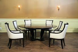 84 round dining table table shown open with large contemporary chairs 84 inch dining table seats