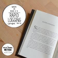 Week 10 Rapid Logging The Bullet Journal Method Book Club Tiny