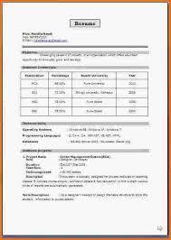 28 fresher resume format for mca student resume format for mca student