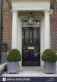 elegant painted front doors in mayfair notting hill chelsae london uk