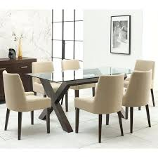 glass table and 6 chairs designs walnut glass top dining table 6 natural fabric chairs glass top patio table 6 chairs