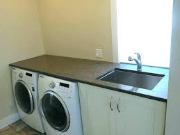 laundry room countertop ideas options over washer and dryer home sink small