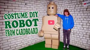 lego robot costume from cardboard diy