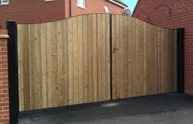 chesterford steel framed wood clad double leaf swing gate pedestrian access gate
