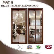 times huiye aluminium sliding door with double layer glass thickness 1 0mm 2 0mm