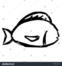 Pisces Drawing Design Hand Drawn Fish Pisces Zodiac Sign Stock Vector Royalty