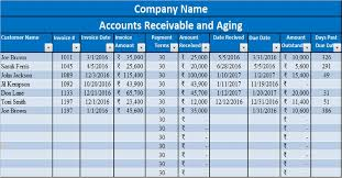 accounting excel template download accounts receivable with aging excel template exceldatapro