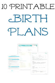 Bradley Birth Plan Template Natural Birth Plan Template Cesarean Gentle C Section Printable