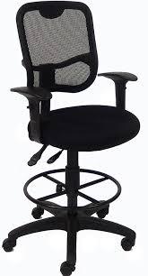 mesh ergonomic drafting stool 26