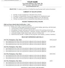 Resume Of A Cna Resume For Cna The Top Secret To Creating Your Cna