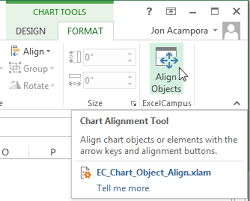 Align Charts In Excel Move And Align Chart Titles Labels Legends With The Arrow