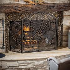living room best black metal fireplace screens with door fireplace grate fireplace safety screen short fireplace
