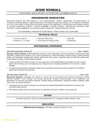 Mechanical Engineer Resume Template Inspiration Mechanical Engineering Resume Templates New Mechanical Engineer