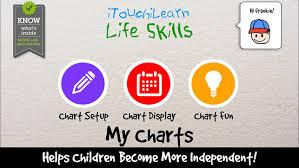 Life Chart App Life Skills Visual Schedule Planner Goal Tracker