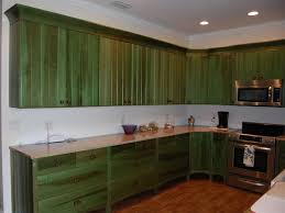 grey distressed kitchen cabinets green