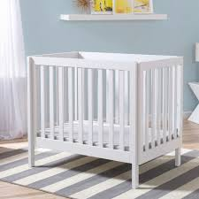 Delta Children Bennington Elite Mini Crib with Mattress - White