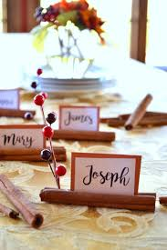 Holiday Placecards Cinnamon Stick Place Cards Thanksgiving Pinterest Thanksgiving