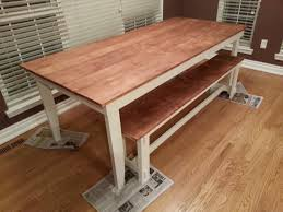 rustic kitchen table with bench. Rustic Kitchen Tables For Sale Beautiful Table And Bench Minwax Honey Stain With