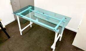 however when building a glass top desk you must first decide what type of desk frame
