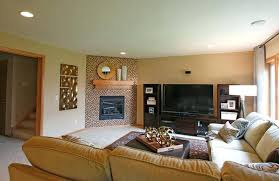 living room with corner fireplace decorating