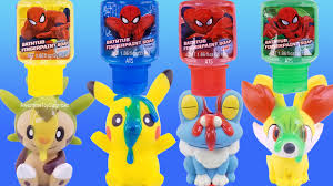 pokemon spiderman bath fingerpaint soap pretend play pool party toy surprises learn colors you