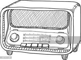 radio clipart black and white. keywords radio clipart black and white