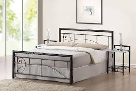 lara double metal frame simple metal bed frames uk