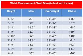 Waist Measurement Chart Ideal Waist Size By Height Chart 3 Fat Chicks On A Diet