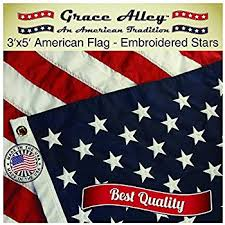 grace alley american flag american made 3x5 ft us flag made in usa embroidered