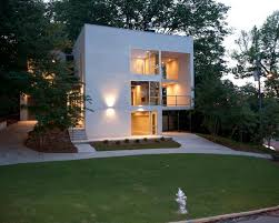 Small Picture White Small Cube House Design With Carport Under The Corner Of The