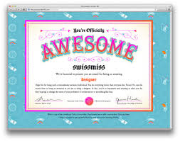 Free Award Templates Adorable You're Officially Awesome Award Free Printable Jessica Hische