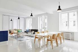 scandinavian lighting design. Modern Dining Room Scandinavian Designs With Mid Century Chairs And White Table On Tile Lighting Design N