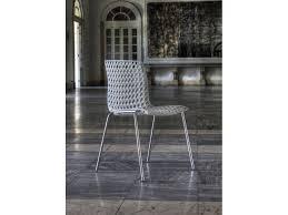 Sedie Schienale Alto Bianche : Coppia sedie quot moir� bianche altek italia design s r l