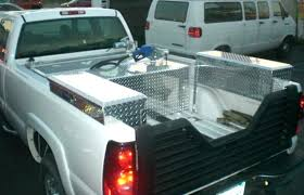 Pickup Side Tool Box Boxes Diamond Plate Aluminum Fuel Tanks And ...