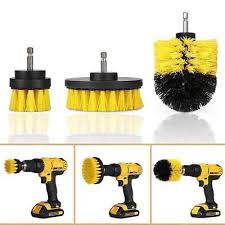 3pcs kit electric drill cleaning brushes for bathroom surfaces tub shower tile