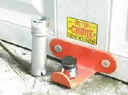 secure a door up and over garage door lock