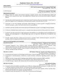 best speech language pathologist resume example - Sample Speech Language Pathologist  Resume